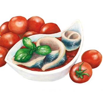Hering in Tomate