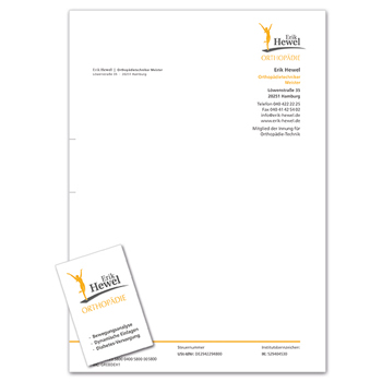 Briefpapier/Visitenkarte