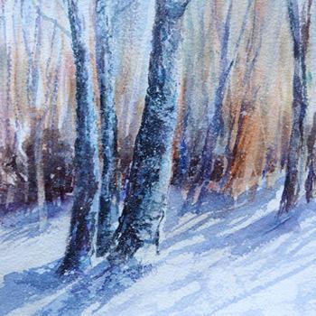 Birkenwald im Schnee